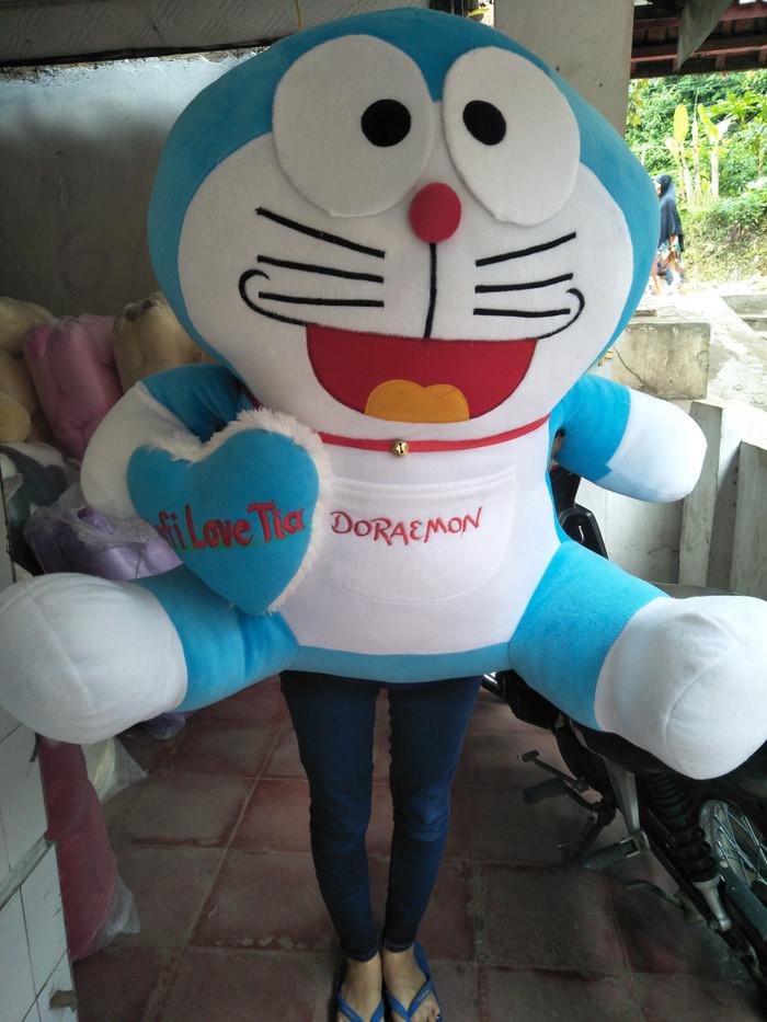 Jual boneka Doraemon super Big jumbo bordir nama termurah - Biru ... bda0454d7c