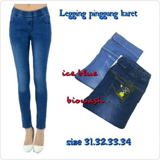Jual Celana Jeans Wanita Legging Pinggang Karet Kota Cimahi Mysha Fashion Tokopedia
