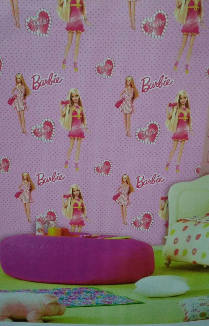 jual wallpaper dinding anak barbie pink - kota tangerang selatan