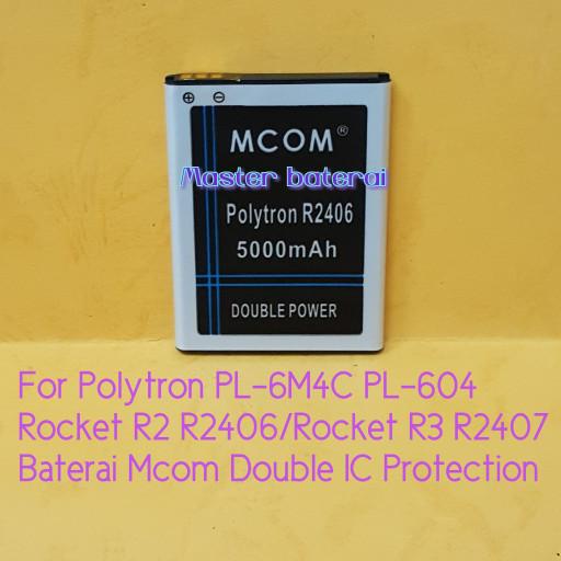 ... harga Baterai polytron rocket r3 r2407 r2 r2406 pl-6m4c double ic protection Tokopedia.