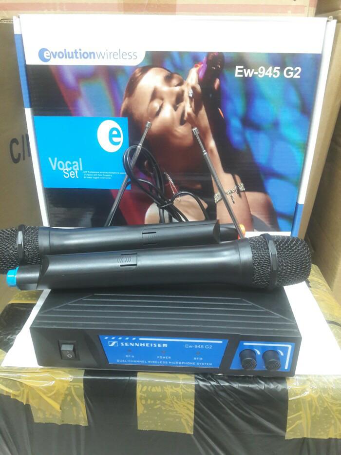 harga Sennheiser ew-945 g2 (ew945) mic wireless audio karaoke,studio,pidato Tokopedia.com