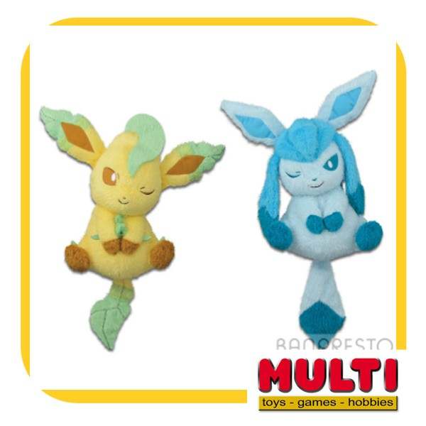 harga Pokemon sun & moon big plush glaceon & leafeon Tokopedia.com
