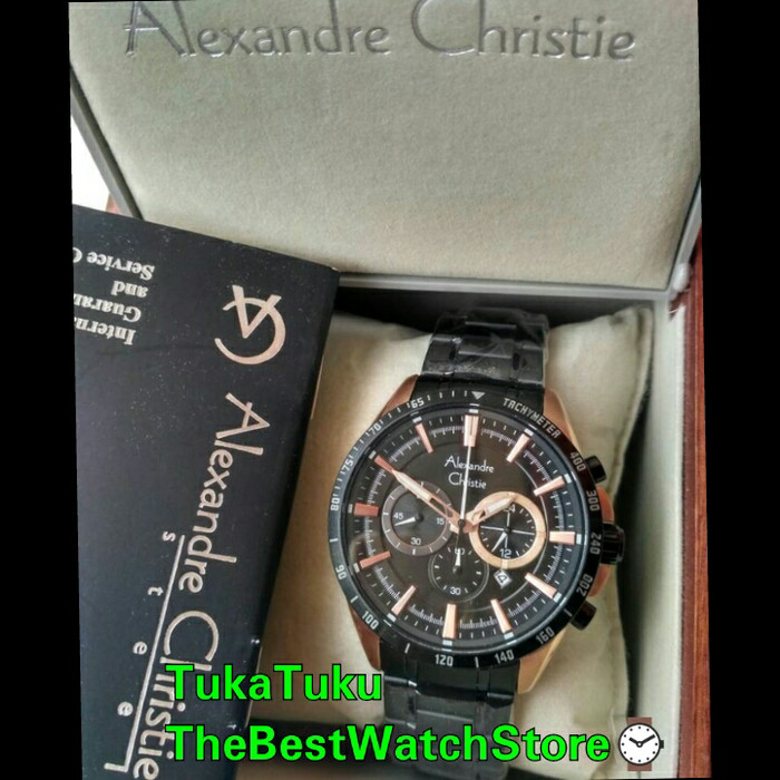 Jam tangan alexandre christie 6451 original