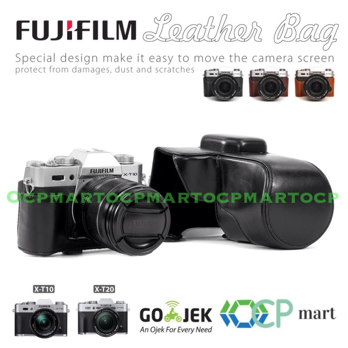 harga Fujifilm x-t10 x-t20 leather case xt10 xt20 bag tas kamera fuji kulit Tokopedia.com