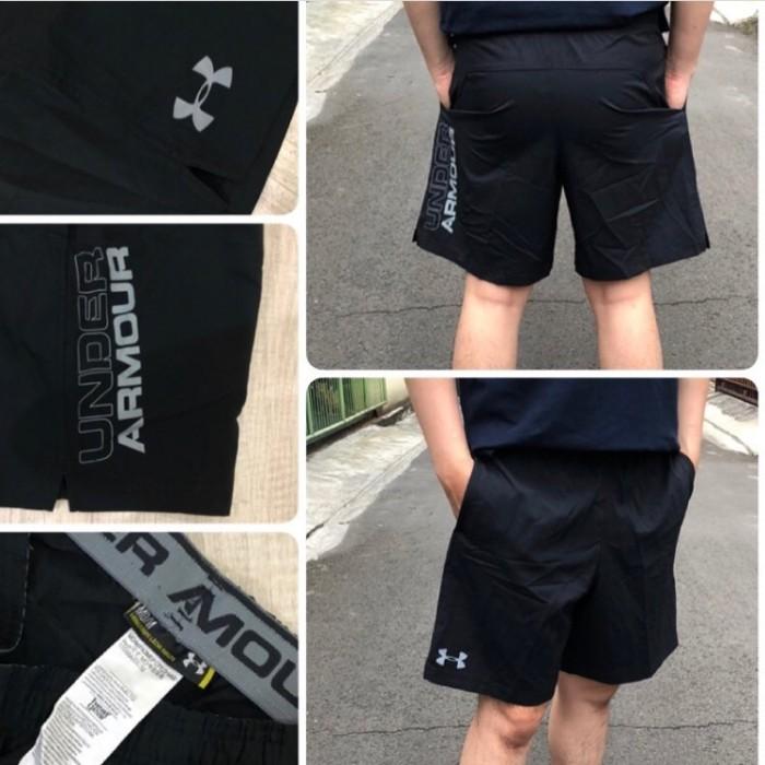 Celana Pendek Under Armour Mens Hit Woven Shorts Black 100% Original b63878531b