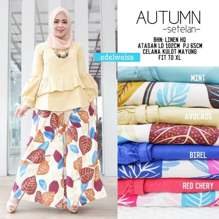Jual Setelan Wanita Muslim Kulot Mayung Blus Autumn Edelweiss Murah Kota Surakarta Rumah Dahayu Tokopedia