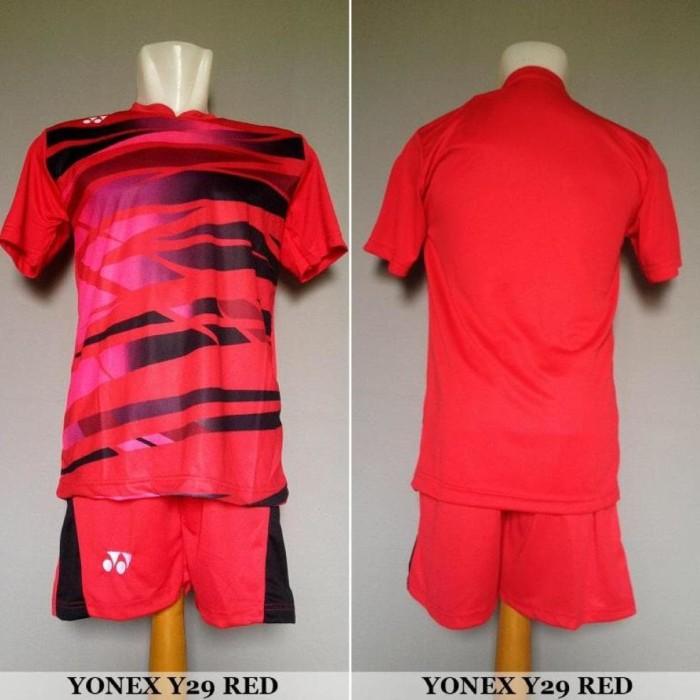 Setelan Badminton Bulutangkis Yonex Y29 - Baju Kaos Jersey Celana