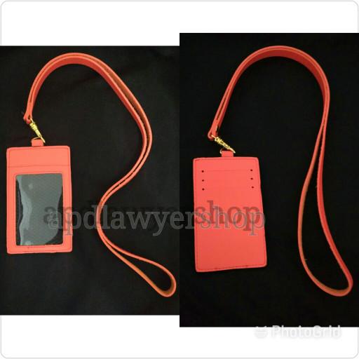 harga Name tag id card holder kulit tali warna orange kwalitas bagus Tokopedia.com