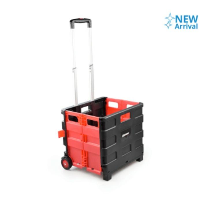 harga Krisbow 25 kg troli / trolley / dorongan lipat barang galon dll - merah Tokopedia.com