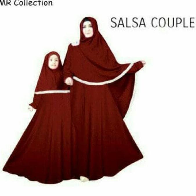 Jual Baju Busana Muslim Gamis Salsa Couple Dusty Ibu Dan Anak Plus ... 5f6bd5a846
