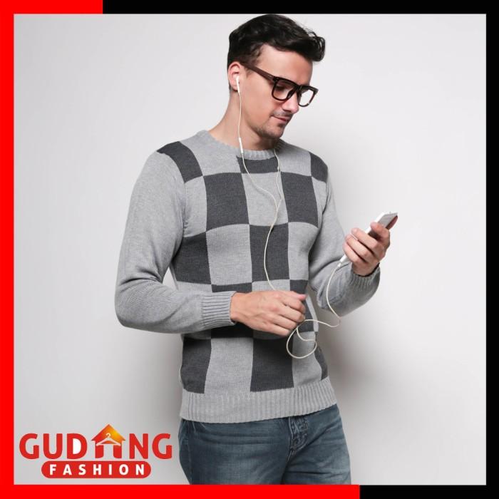 harga Sweater rajut pria modis casual swe 663 Tokopedia.com