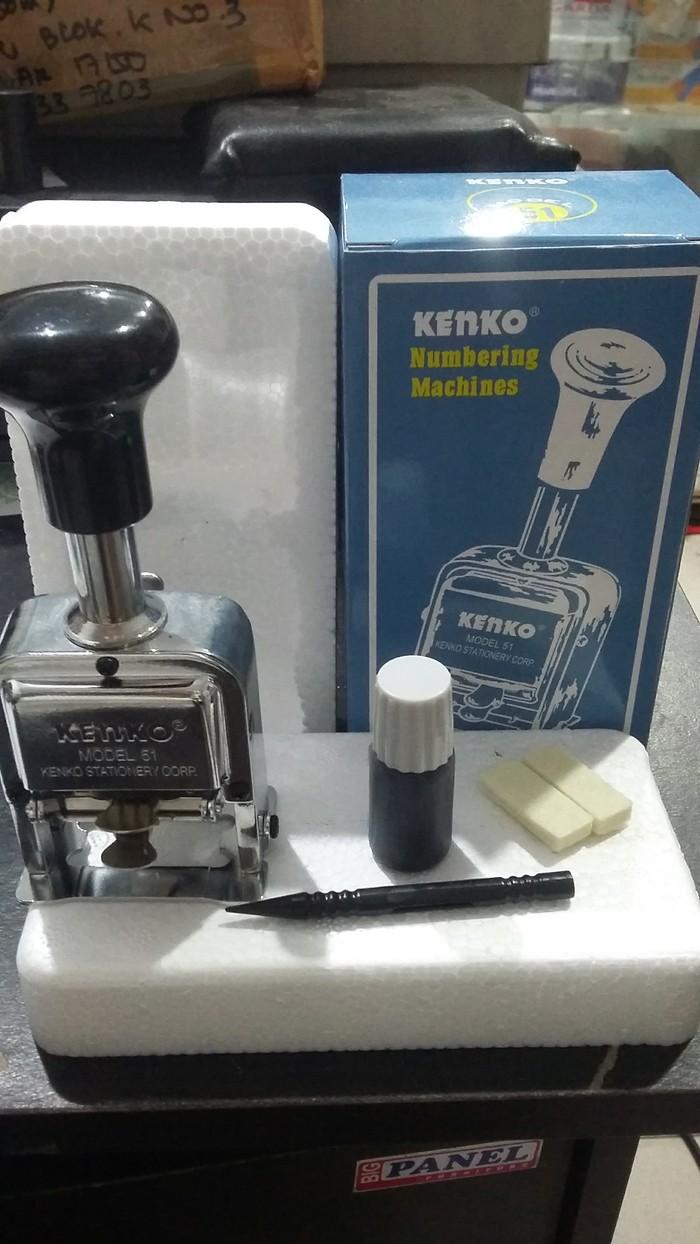 harga Stempel nomor otomatis 7 digit rollink kenko model 51 Tokopedia.com