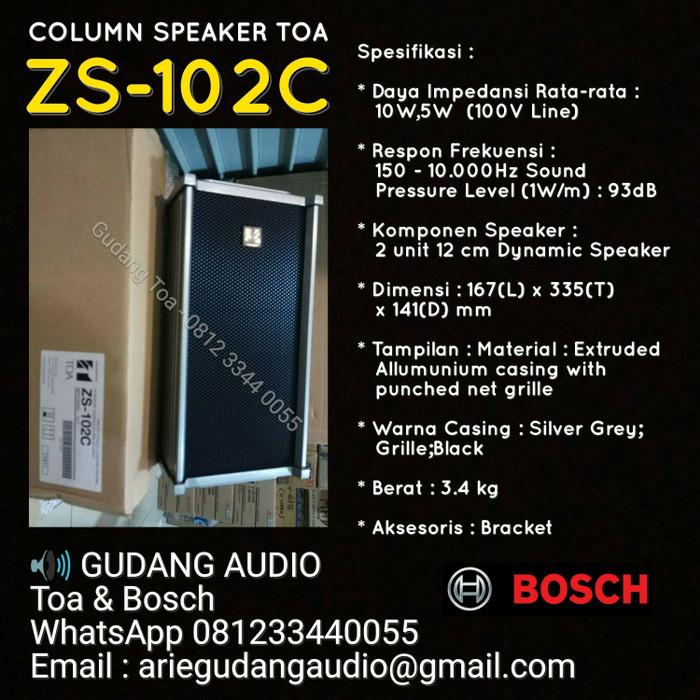 harga Toa column speaker type : zs-102c Tokopedia.com