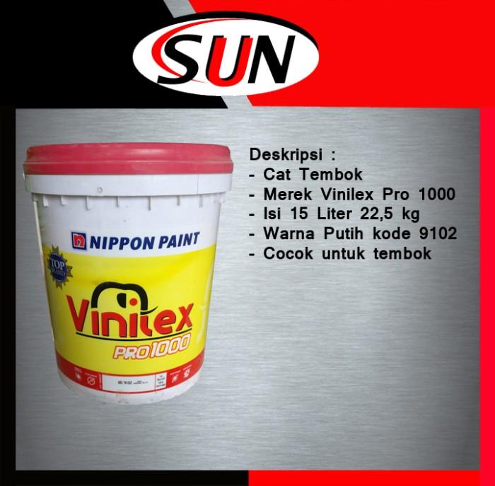 harga Cat tembok vinilex pro 1000 15 l / 225 kg putih 9102 ( khusus gojek ) Tokopedia.com