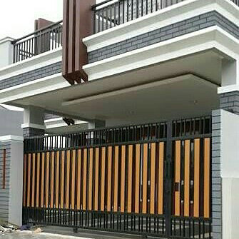Jual Pagar Rumah Kombinasi Woodplank Kab Bogor Bengkel Las