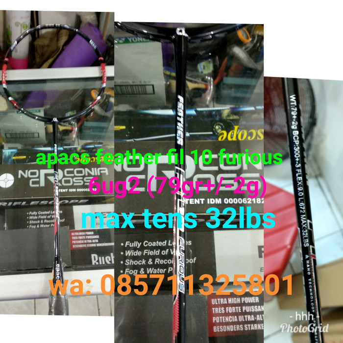 harga Raket badminton apacs feather fil 10 furious ! type ringan , 100% ori! Tokopedia.com
