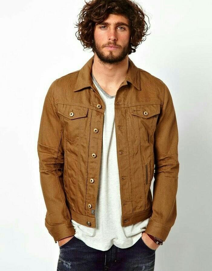 Jual Jaket jeans denim brown coklat - Jaket Jeans pria - NHstore25 ... da35763013