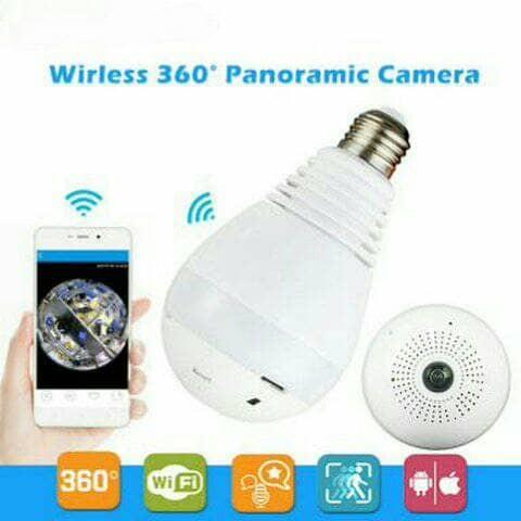 harga Ip camera bulb panoramic cctv wifi 360 derajat bentuk lampu led bohlam Tokopedia.com