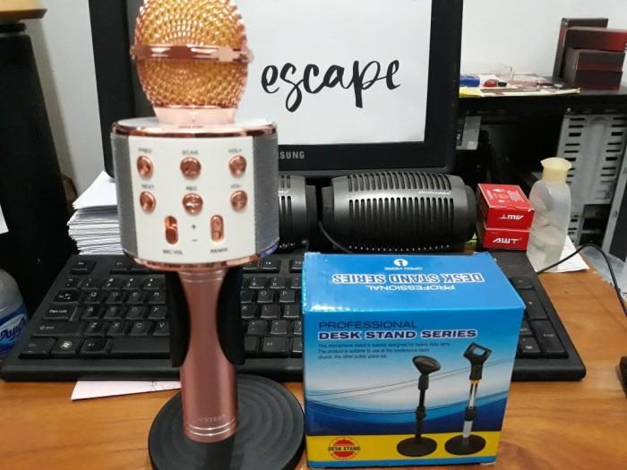 harga Desk microphone stand - stand mic meja untuk mic ws 858 q7 q9 Tokopedia.com