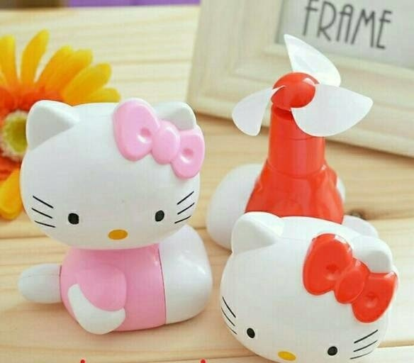 harga Kipas angin tarik mini cooling fan unik lucu hello kitty helo kity hk Tokopedia.com
