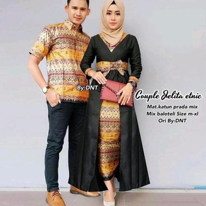 Jual Baju Couple Gamis Batik Terbaru Warna Hitam Dy 1805 Kota Yogyakarta Diyas Onlineshop Tokopedia