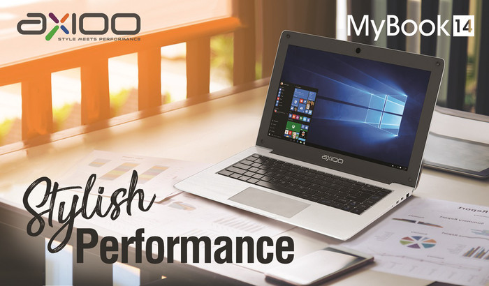 harga Axioo laptop notebook mybook 14 n3350 4gb 500gb+32gb 14  w10 fhd murah Tokopedia.com
