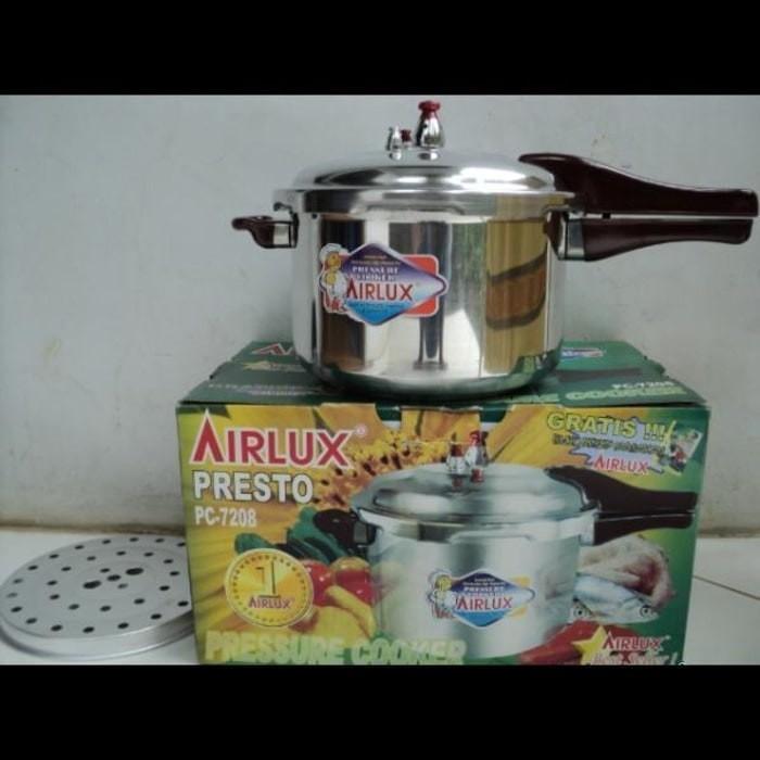 harga Panci presto (pressure cooker) airlux 8 liter berat 3kg bandeng ayam Tokopedia.com