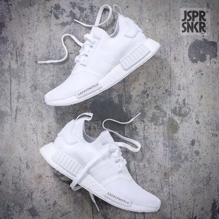 668fdd397 Jual Adidas NMD R1 PK Japan - Triple White - Jasper Sneakerz