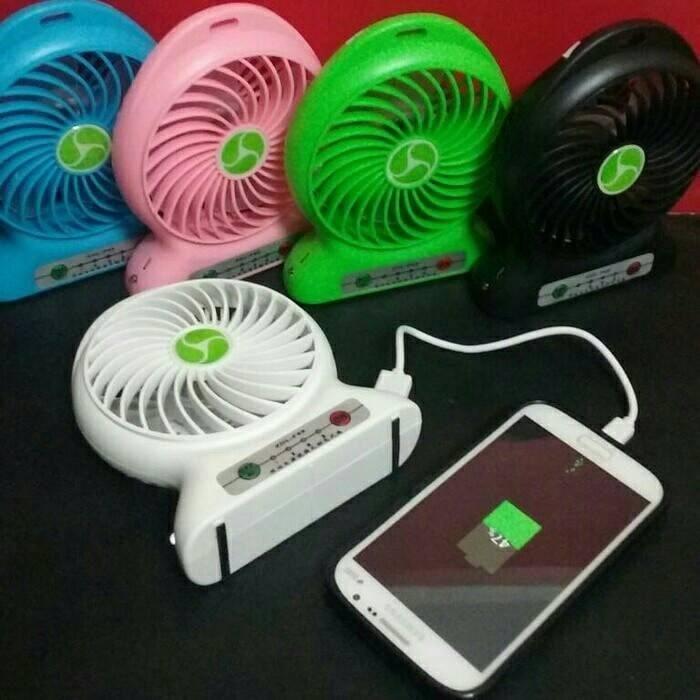 harga power bank kipas angin mini portable / mini fan usb portable Tokopedia.com