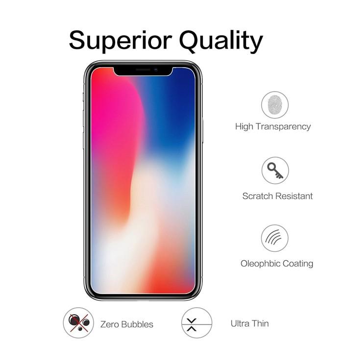 Foto Produk High Quality Tempered Glass Anti Gores Bening iPhone 6 6S 7 8 X Plus - 6 atau 6S dari iShop Here