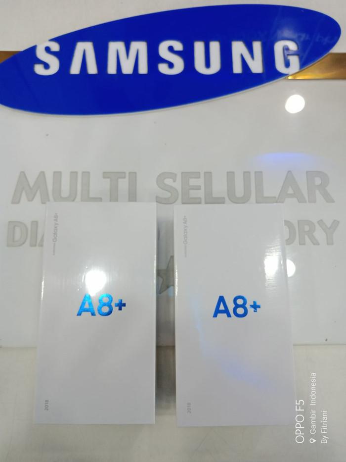 Samsung Galaxy A8+ Grs Resmi Indonesia SEIN - Hitam