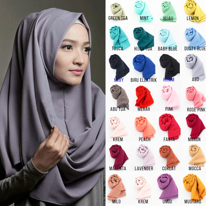 ... harga Hijab pashmina instan sabrina 1 lubang jilbab khimar kerudung pastan Tokopedia.com