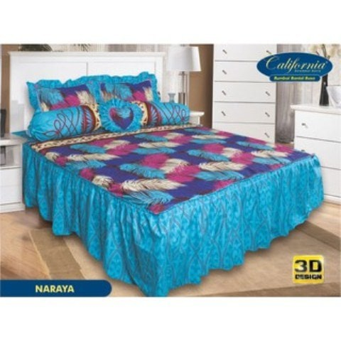 SPREI RUMBAI CALIFORNIA MY LOVE 180 NARAYA 180X200 KING SIZE NO.1