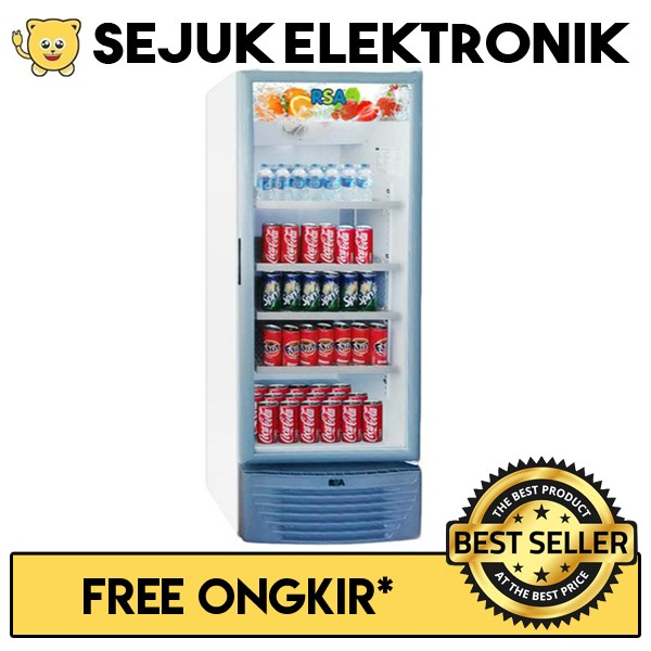 harga Rsa vision-300 lemari es / kulkas showcase 280 liter putih Tokopedia.com
