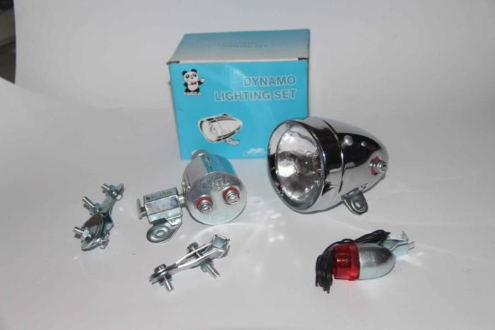 harga Lampu dinamo. lampu depan sepeda onthel ontel fullset Tokopedia.com
