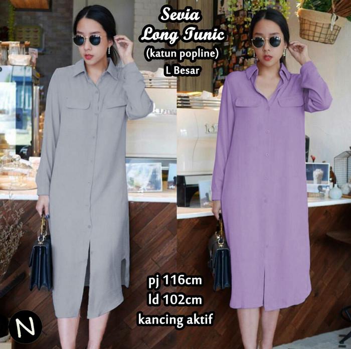 65201 sevia long tunic/baju tunik murah/atasan muslim wanita murah
