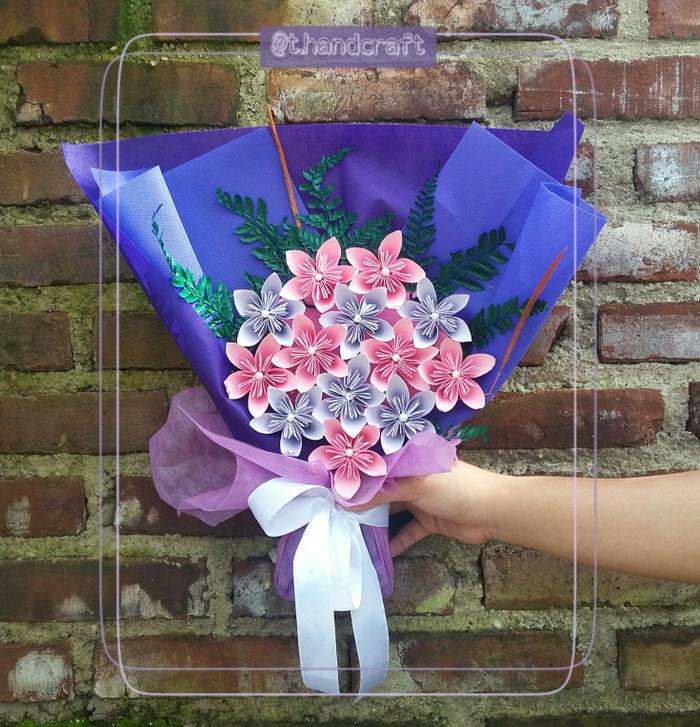 Jual Buket Bunga Kertas Kota Cimahi T Handcraft Tokopedia