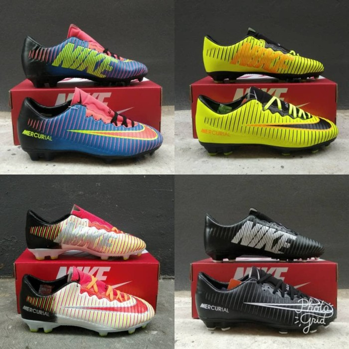 harga Termurah!! Grad Ori Sepatu Bola Nike Mercurial Kualitas Pabrik Tokopedia.com