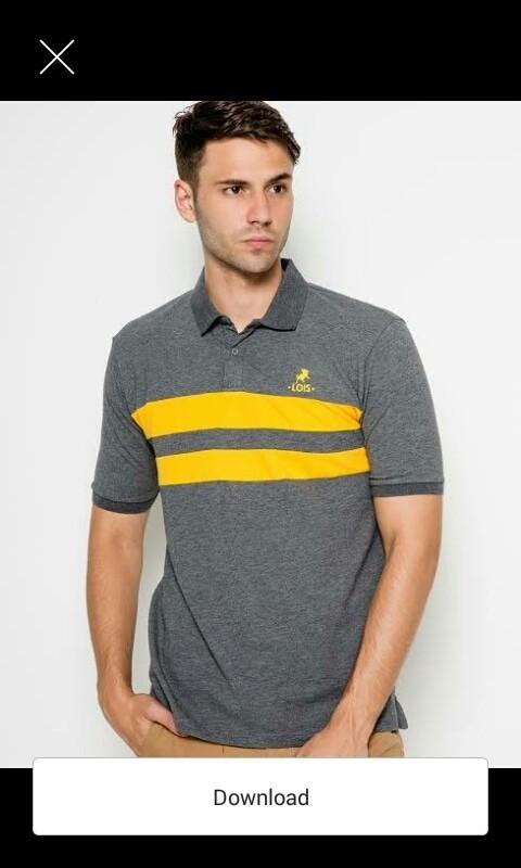 Polo shirt/baju kaos kerah pria lengan pendek/lois