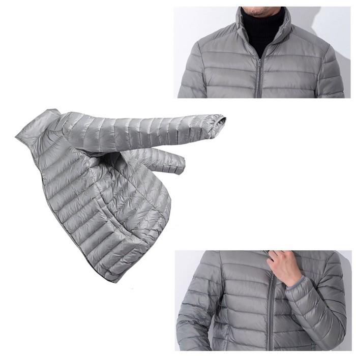 Jaket tebal musim dingin winter import pria wanita hitam 0036