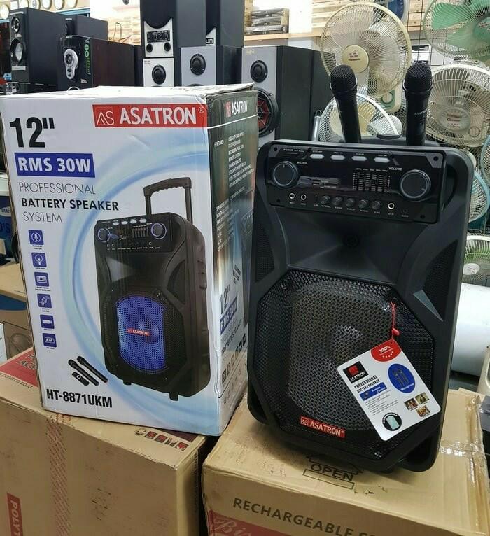 harga Speaker portable amplifier wireless meeting asatron ht-8871ukm 12inch Tokopedia.com