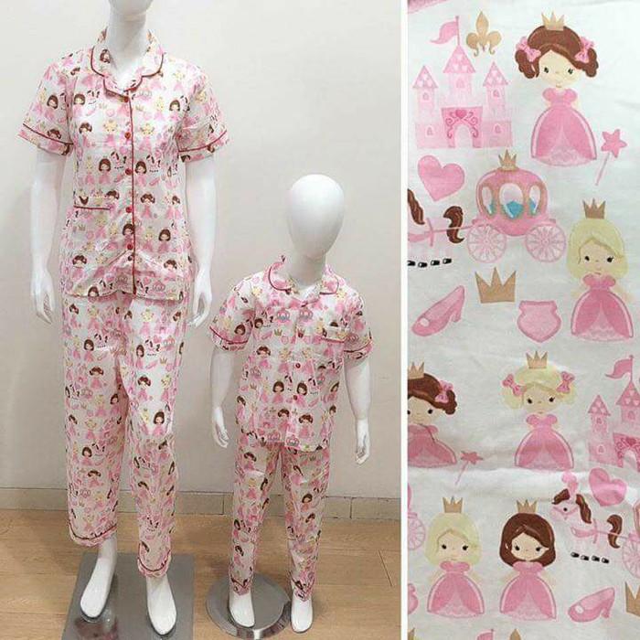 harga Baju tidur piyama couple mom&kids motif princess Tokopedia.com