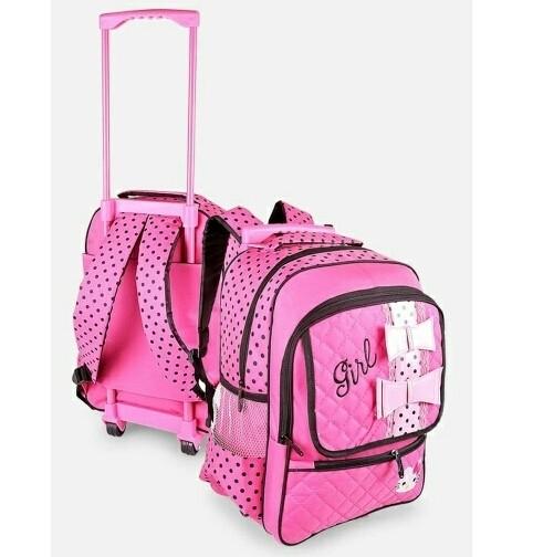 tas ransel sekolah anak perempuan koper roda cewek pink lucu bagus ori