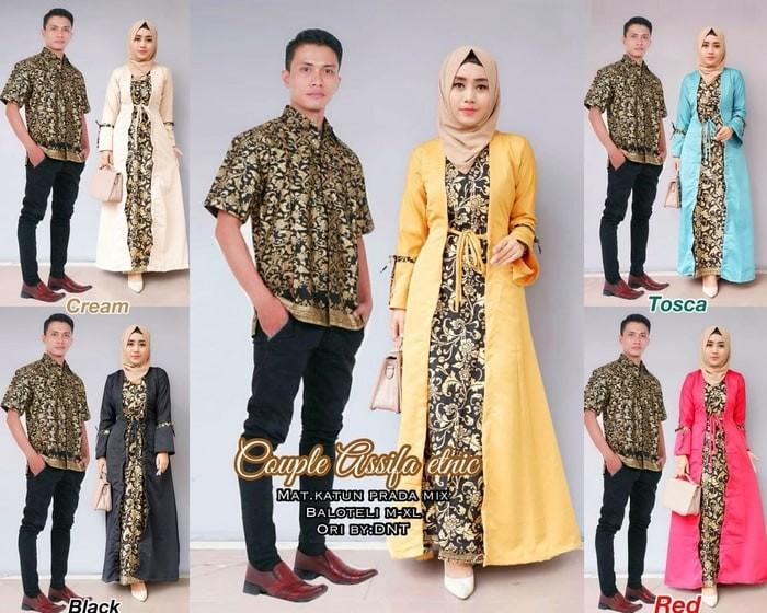harga Baju couple batik / sarimbit gamis batik asifa etnic Tokopedia.com