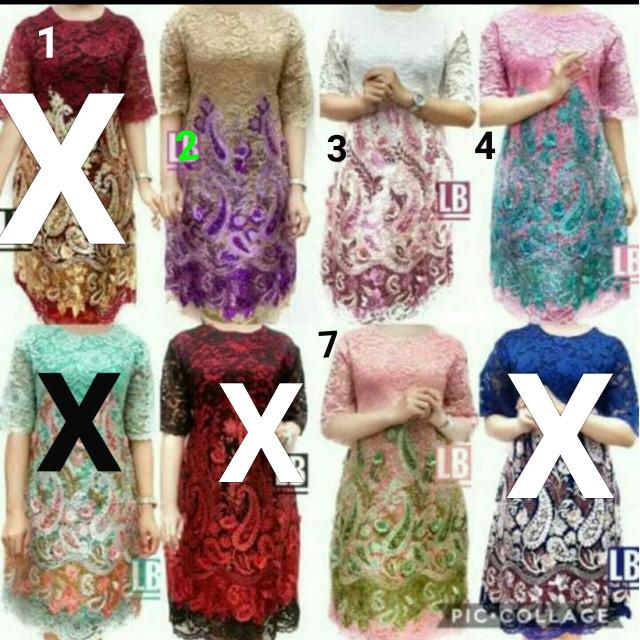 harga Dress full brukat import Tokopedia.com