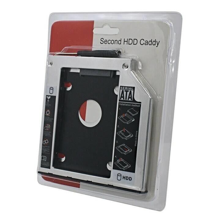 harga Hdd caddy / 2nd harddisk slot laptop 9,5mm sata to sata 9,5mm Tokopedia.com