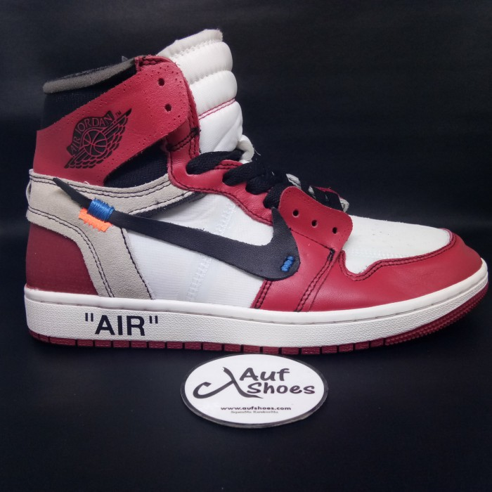 540379160e6 Jual Nike air jordan 1 off white the ten - white red - AUF SHOES ...