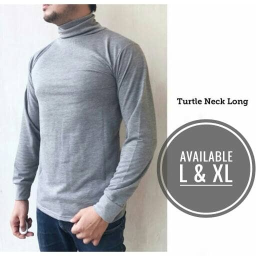 harga Baju kaos turtleneck turtle neck pria lengan panjang longsleeve distro Tokopedia.com
