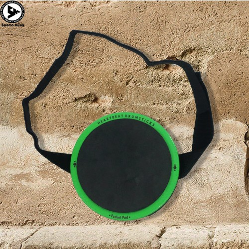 harga Heartbeat pocket pad - portable practice drum pad - green Tokopedia.com