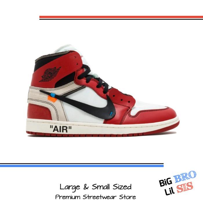 online store 349a4 a0304 Jual Sepatu Nike Air Jordan 1 Off White size 44 - Sneaker AJ OffWhite - DKI  Jakarta - Big Bro Lil Sis | Tokopedia